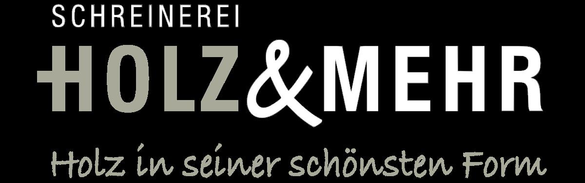 Holz+Mehr_Logo_Schreinerei_1200x375_weiß