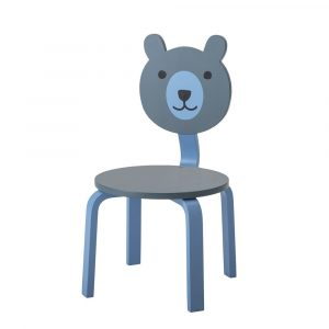 HOLZ & MEHR_100031_Bloomingville Mini Bär Stuhl Blau