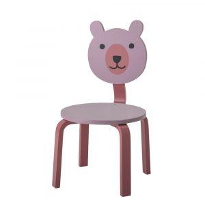 HOLZ & MEHR_100032_Bloomingville Mini Bär Stuhl Rosa
