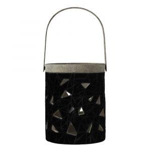 HOLZ & MEHR_100036_Bloomingville Lantern Black Stoneware