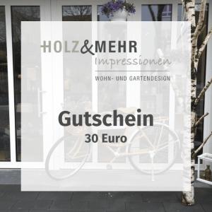 HOLZ&MEHR Gutschein 30