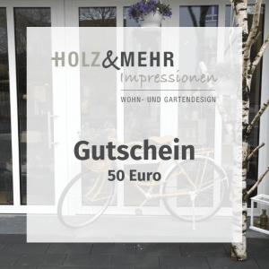 HOLZ&MEHR Gutschein 50
