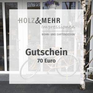 HOLZ&MEHR Gutschein 70