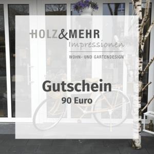 HOLZ&MEHR Gutschein 90